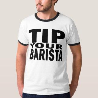Incline su Barista blanco y negro Camiseta