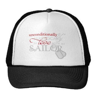Incondicional en amor con mi marinero gorras de camionero