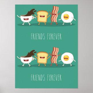 Inconformista de la comida, modelo, amigos para póster