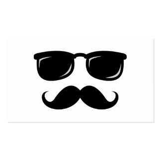 Inconformista de moda del bigote sonriente incógni plantillas de tarjeta de negocio