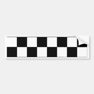 Inconformista retro del tablero de damas blanco y  pegatina para coche