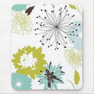 Inconsútil floral retro alfombrilla de ratón