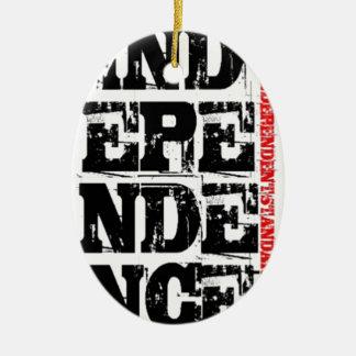Independencia Adorno Ovalado De Cerámica