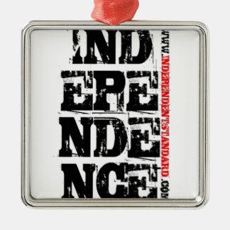 Independencia Adorno Cuadrado Plateado
