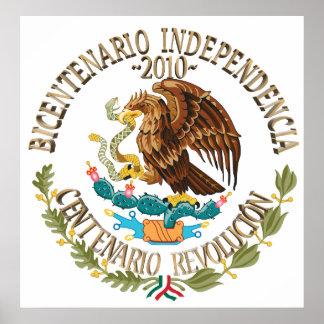 Independencia/revolución de 2010 mexicanos poster