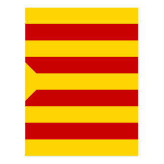 Independentista Catalana de Estelada Roja - de Postal