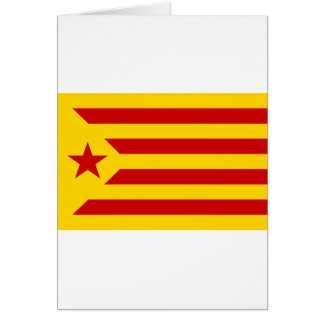 Independentista Catalana de Estelada Roja - de Tarjeta De Felicitación