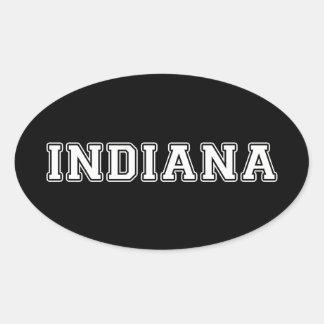 Indiana Pegatina Ovalada