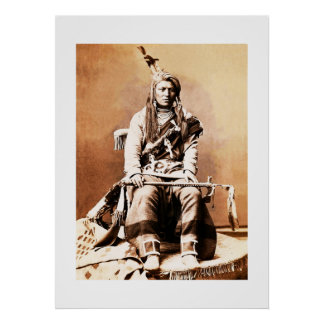 Indio 1880 del cuervo póster