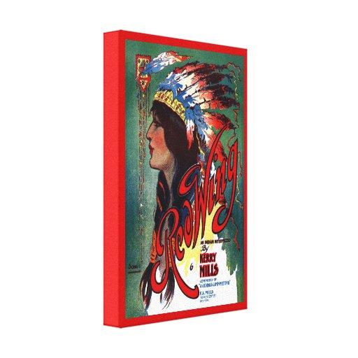 Indio americano Digital de Red Wing vuelta a mezcl Lienzo Envuelto Para Galerias
