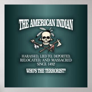 Indio americano (quién es el terrorista?) 2 poster