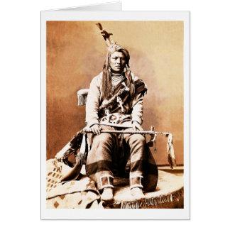 Indio del cuervo, 1880 tarjeta de felicitación