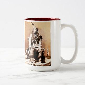 Indio del cuervo 1880 taza de café