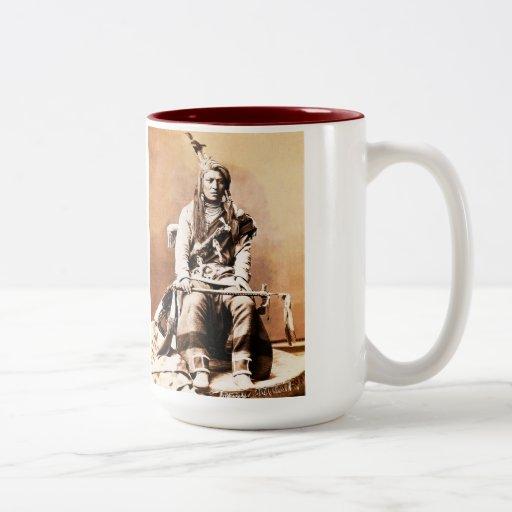 Indio del cuervo, 1880 taza de café