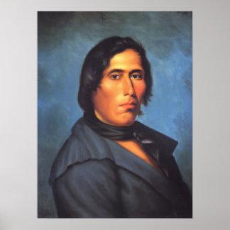 Indio del nativo americano de TECUMSEH Póster