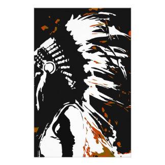 Indio del nativo americano papelería