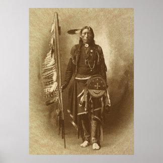 Indio del nativo americano póster
