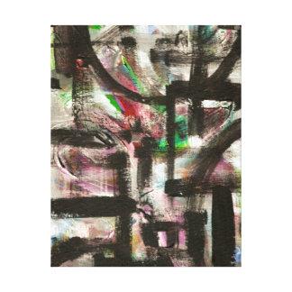 Indirecta de pinceladas abstractas pintadas impresión en lienzo