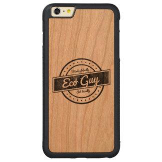 Individuo de Eco Funda Para iPhone 6 Plus De Carved® De Cerezo