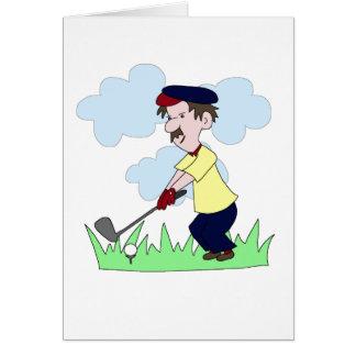 Individuo del golfista tarjeta de felicitación