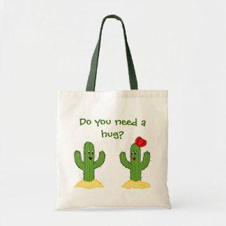 Individuo espinoso del cactus del dibujo animado bolsa tela barata