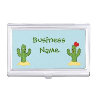 Individuo espinoso del cactus del dibujo animado cajas de tarjetas de presentación