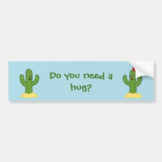 Individuo espinoso del cactus del dibujo animado pegatina para coche