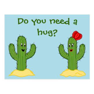 Individuo espinoso del cactus del dibujo animado postal