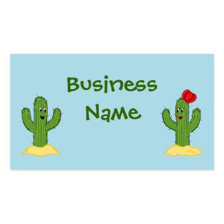 Individuo espinoso del cactus del dibujo animado tarjetas de visita