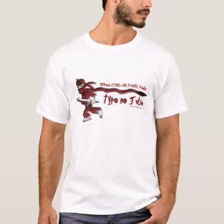 """Individuo-Guarida de Ninja """"error tipográfico Camiseta"""