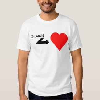Individuo hearted grande camiseta