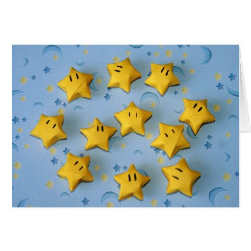 Individuos de la estrella de Origami Felicitacion