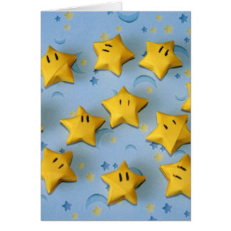 Individuos de la estrella de Origami Tarjeta De Felicitación