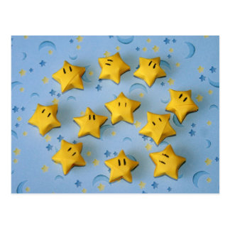 Individuos de la estrella de Origami Tarjeta Postal