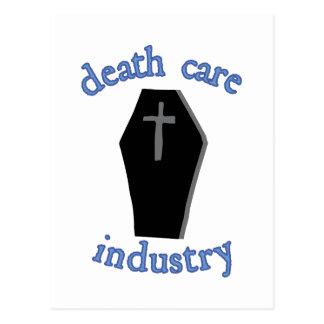 Industria del cuidado de la muerte tarjetas postales