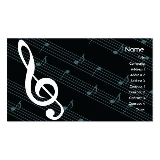 Industria musical tarjetas de negocios