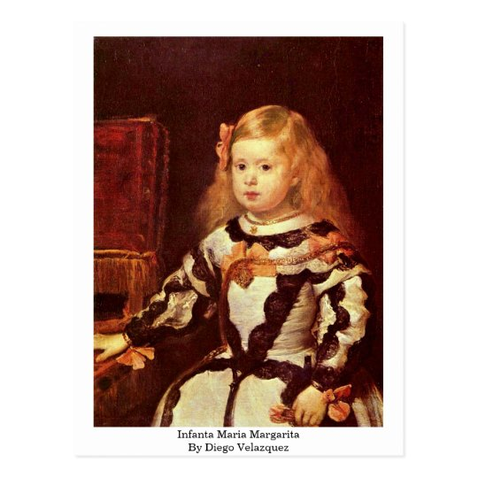 Infanta Maria Margarita de Diego Velázquez Postal