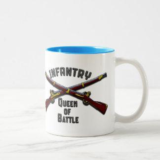 Infantería - reina de la batalla - Drinkware Taza De Café De Dos Colores
