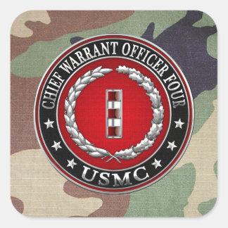 Infantes de marina de los E.E.U.U.: Principal Calcomanía Cuadradas Personalizadas