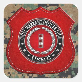 Infantes de marina de los E.E.U.U.: Principal Calcomanías Cuadradas Personalizadas