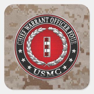 Infantes de marina de los E.E.U.U.: Principal Calcomanias Cuadradas