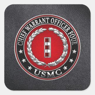 Infantes de marina de los E.E.U.U.: Principal Pegatinas Cuadradases Personalizadas