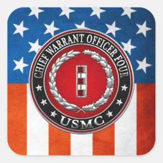 Infantes de marina de los E.E.U.U.: Principal Calcomanía Cuadrada