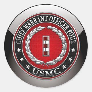 Infantes de marina de los E.E.U.U.: Principal Pegatina Redonda