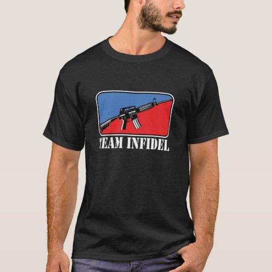 Infiel del equipo camiseta