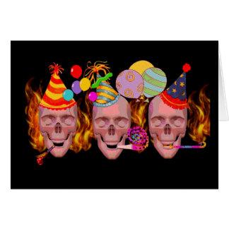 Infierno del cumpleaños tarjeta de felicitación