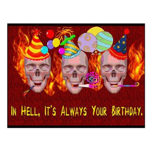 Infierno del cumpleaños postal