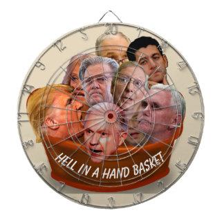 Infierno en un Handbasket personalizado Tablero Dardos
