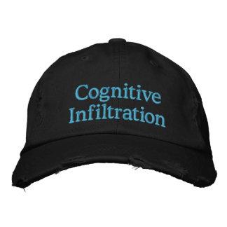 Infiltración cognoscitiva gorras de béisbol bordadas