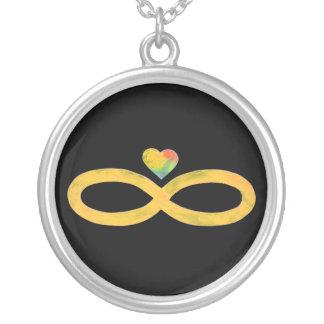Infinito 1 del oro collares personalizados